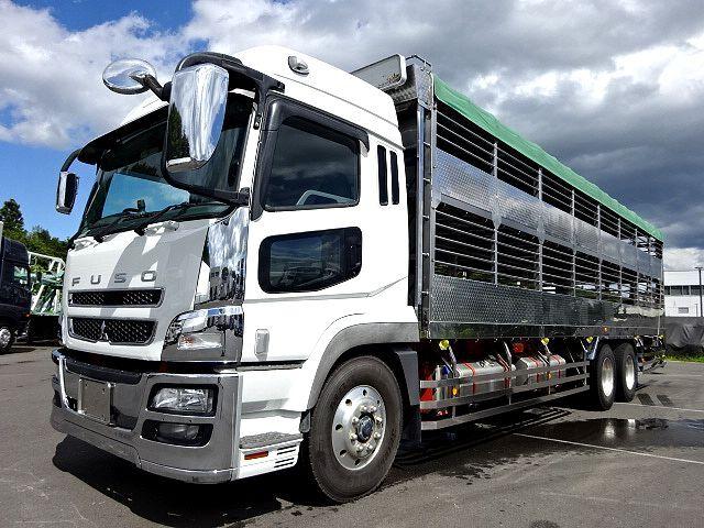 三菱 H21 スーパーグレート ハイルーフ 家畜運搬車 画像1