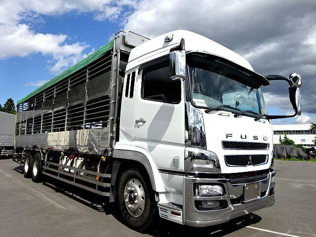 三菱 H21 スーパーグレート ハイルーフ 家畜運搬車 画像3