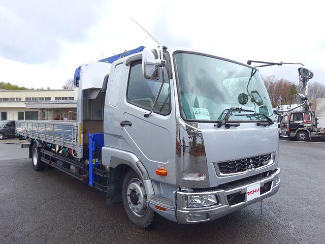 三菱 H27 ファイター 増トン ワイド 平 3段クレーン 画像4