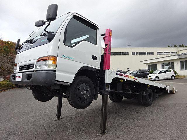 いすゞ H9 エルフ キャリアカー ハイジャッキ 荷台延長スライド 車検付