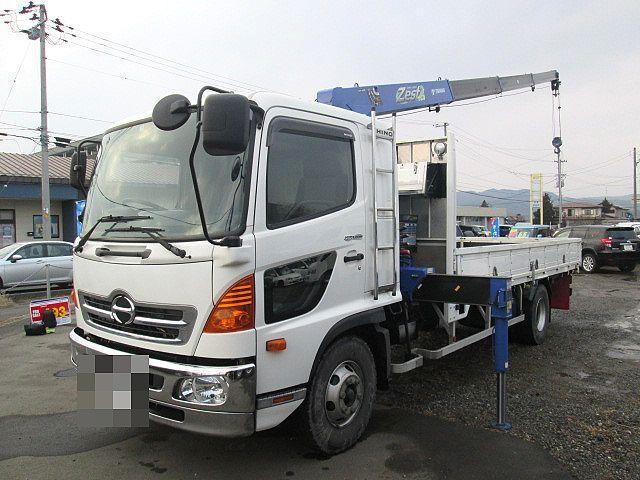 日野 H25 レンジャー 平 4段クレーン 車検付