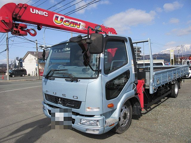 三菱 H27 ファイター ワイド 平 3段クレーン 車検付
