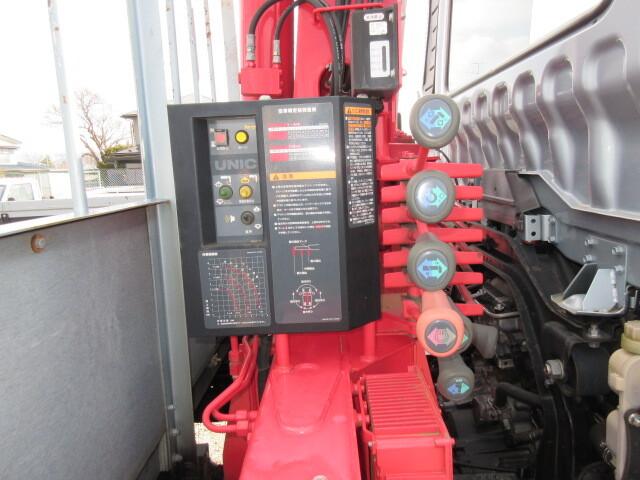 三菱 H27 ファイター ワイド 平 3段クレーン 車検付 画像12