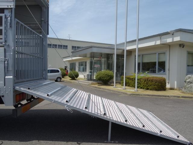 三菱 H22 ファイター 増トン ワイド 家畜運搬車 スロープ付 画像19