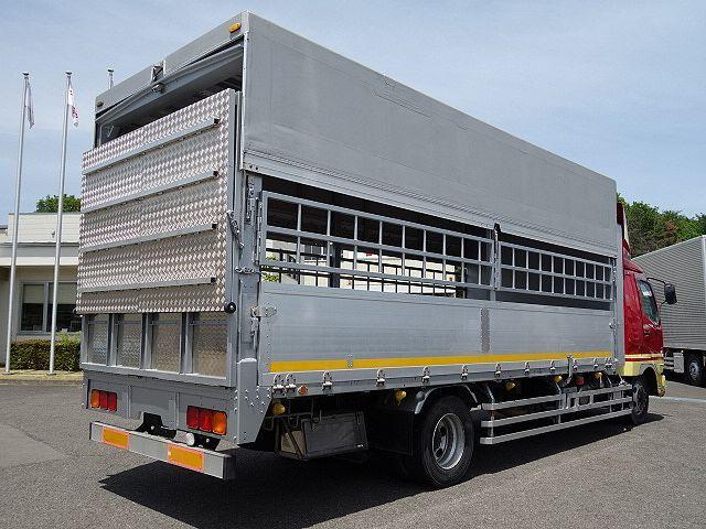三菱 H22 ファイター 増トン ワイド 家畜運搬車 スロープ付 画像8