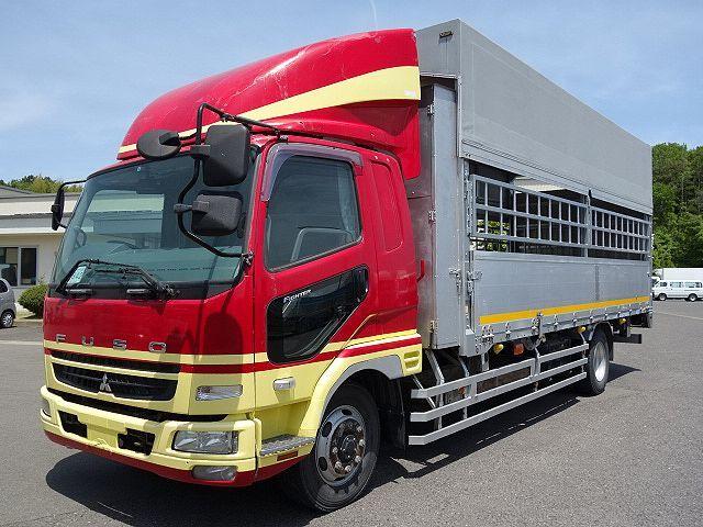 三菱 H22 ファイター 増トン ワイド 家畜運搬車 スロープ付 画像1