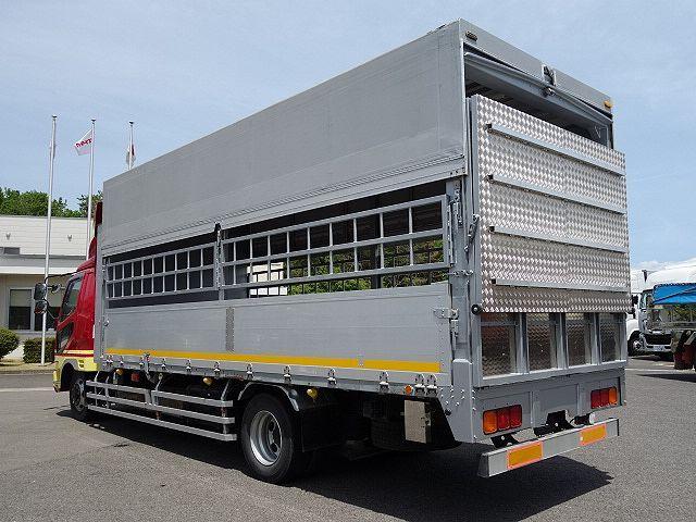 三菱 H22 ファイター 増トン ワイド 家畜運搬車 スロープ付 画像6