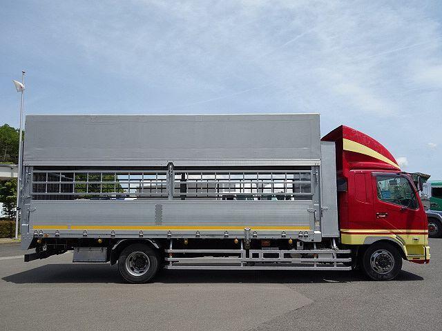 三菱 H22 ファイター 増トン ワイド 家畜運搬車 スロープ付 画像4