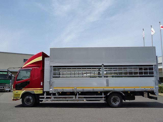 三菱 H22 ファイター 増トン ワイド 家畜運搬車 スロープ付 画像5