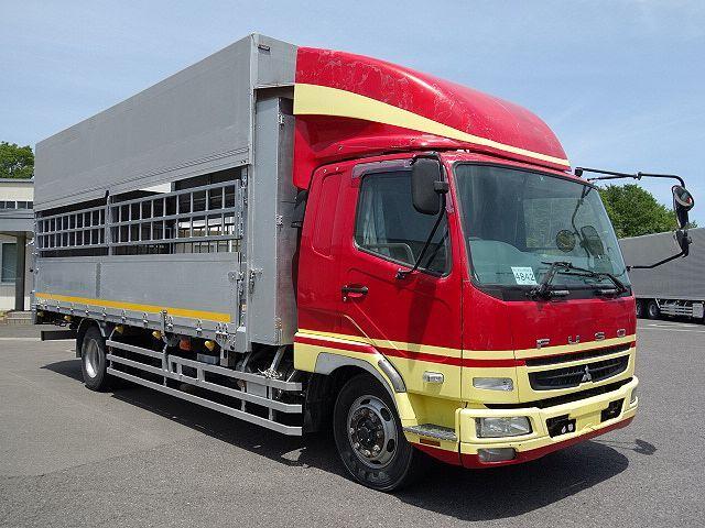 三菱 H22 ファイター 増トン ワイド 家畜運搬車 スロープ付 画像3