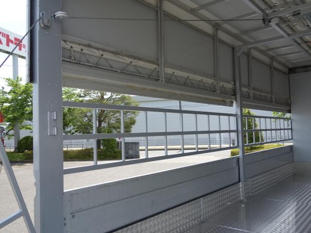 三菱 H22 ファイター 増トン ワイド 家畜運搬車 スロープ付 画像15