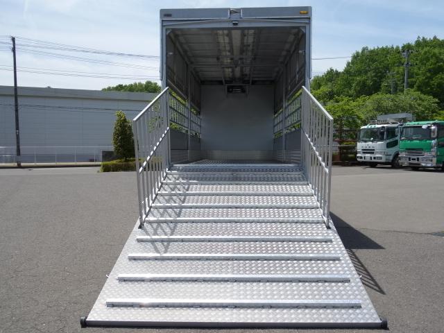 三菱 H22 ファイター 増トン ワイド 家畜運搬車 スロープ付 画像12