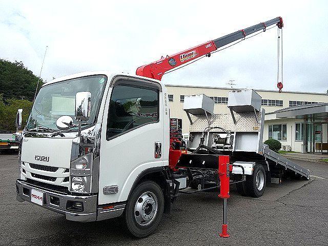 いすゞ H29 エルフ 4段クレーン セルフローダー 車検付 画像1