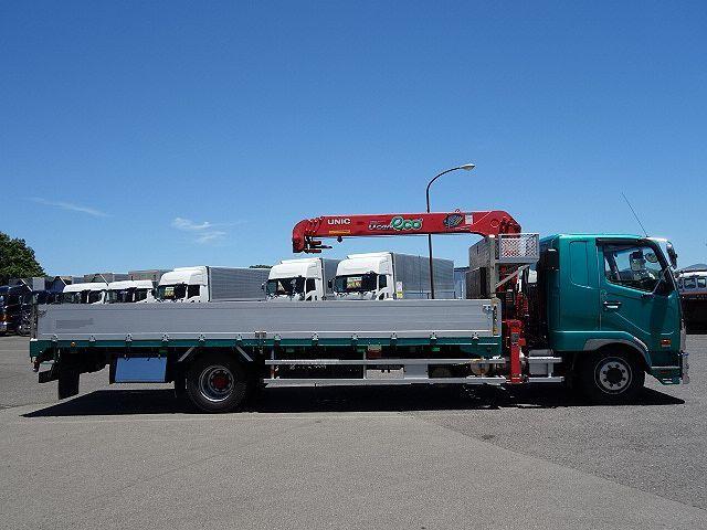 三菱 H25 ファイター 増トン ワイド アルミブロック 4段クレーン 画像6