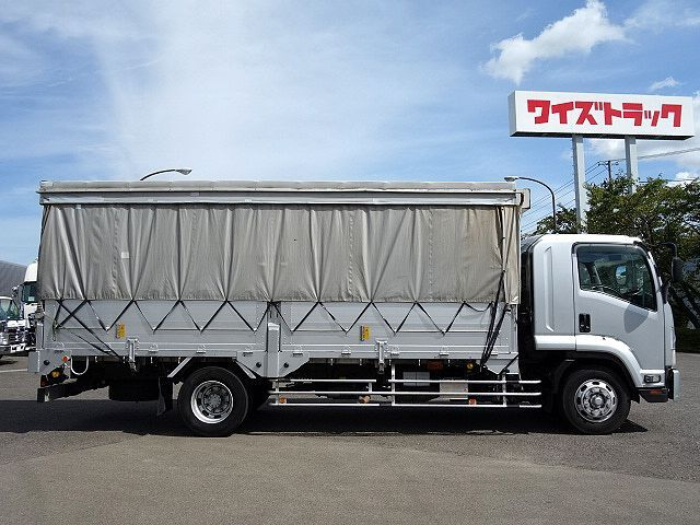 いすゞ H20 フォワード 増トン 幌カーテン 平 アルミブロック 画像4