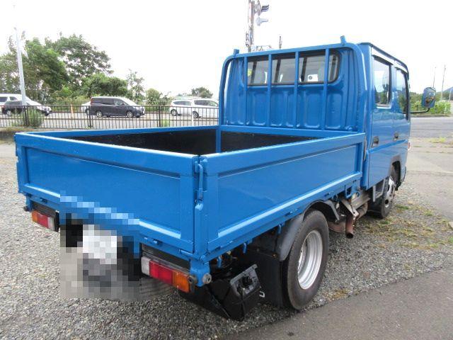 三菱 H24 キャンター 4WD Wキャブ 平ボデー 車検付 画像8