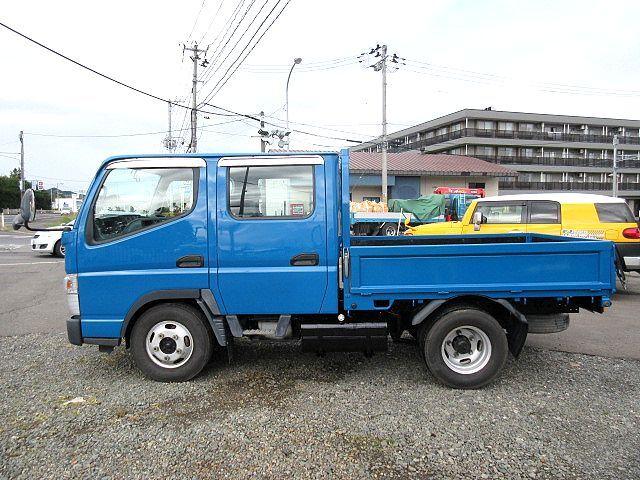 三菱 H24 キャンター 4WD Wキャブ 平ボデー 車検付 画像4