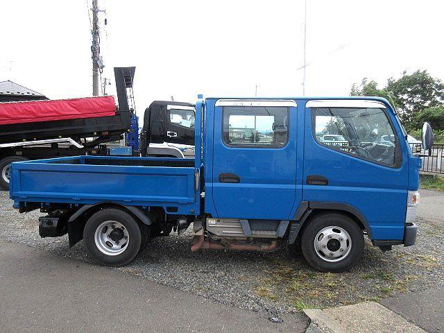 三菱 H24 キャンター 4WD Wキャブ 平ボデー 車検付 画像5