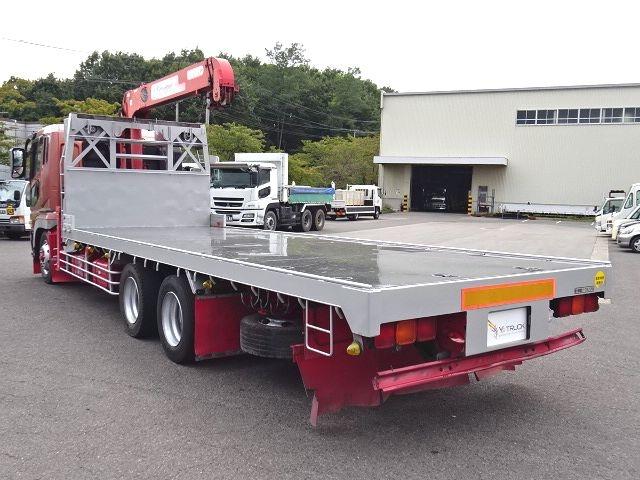 三菱 H16 スーパーグレート 3軸低床 平3段クレーン 画像8