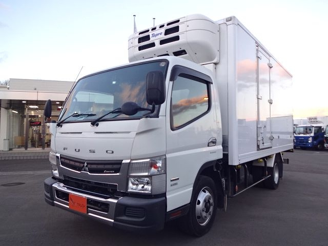 三菱 H23 キャンター カスタム ワイドロング 冷凍車 画像1