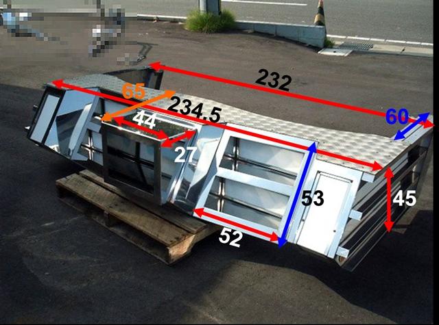4t車 標準幅用 フロントステンレスバンパー 画像2